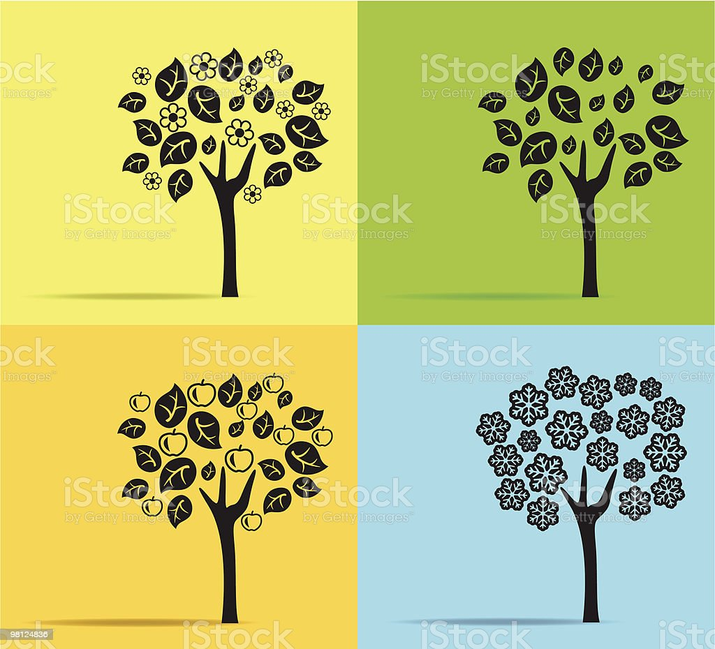 Seasons royalty-free seasons stock vector art & more images of apple - fruit