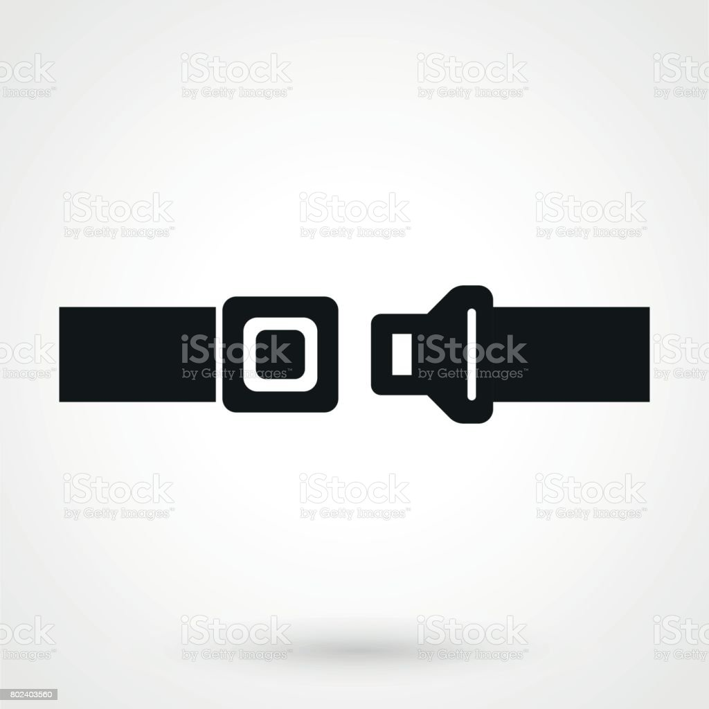 seat belt icon in a simple style vector art illustration