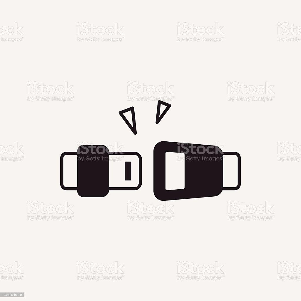seat belt icon vector art illustration