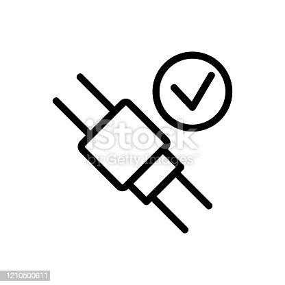 Seat belt icon vector. Isolated contour symbol illustration