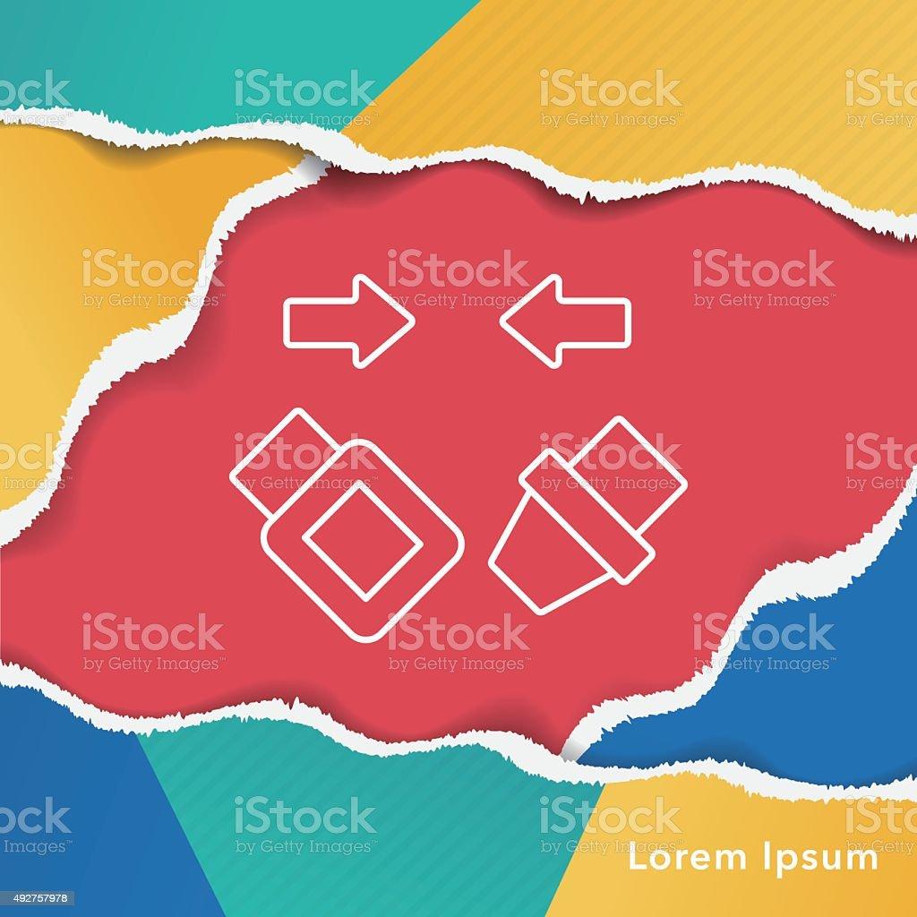 seat belt line icon vector art illustration