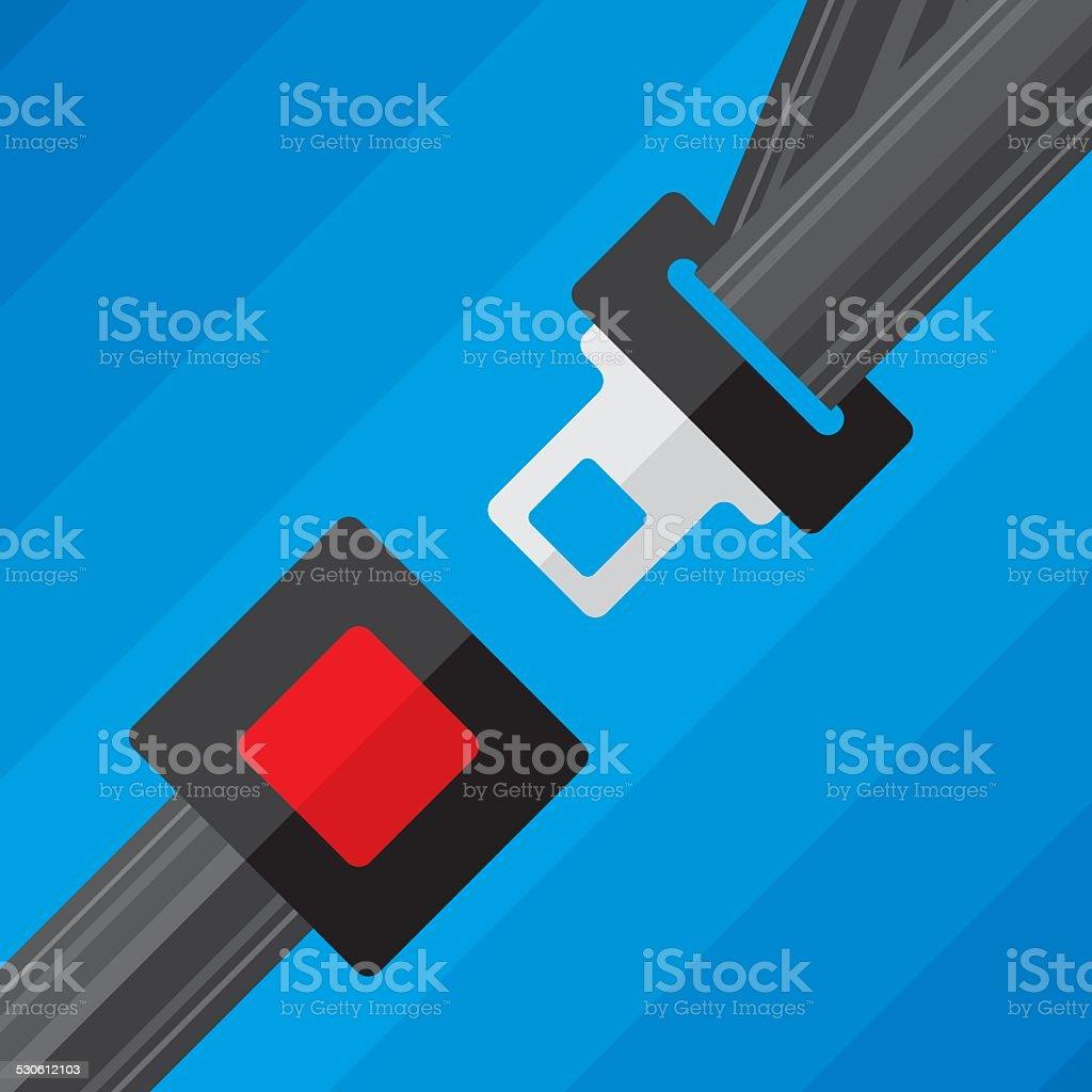 Seat Belt vector art illustration