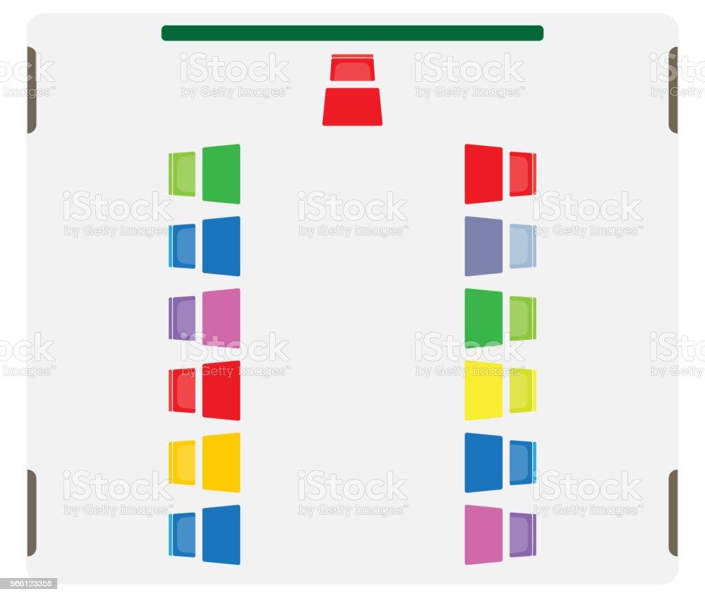 Platsöversikten för barn klassrummet Visa bord och stol - Royaltyfri Bord vektorgrafik