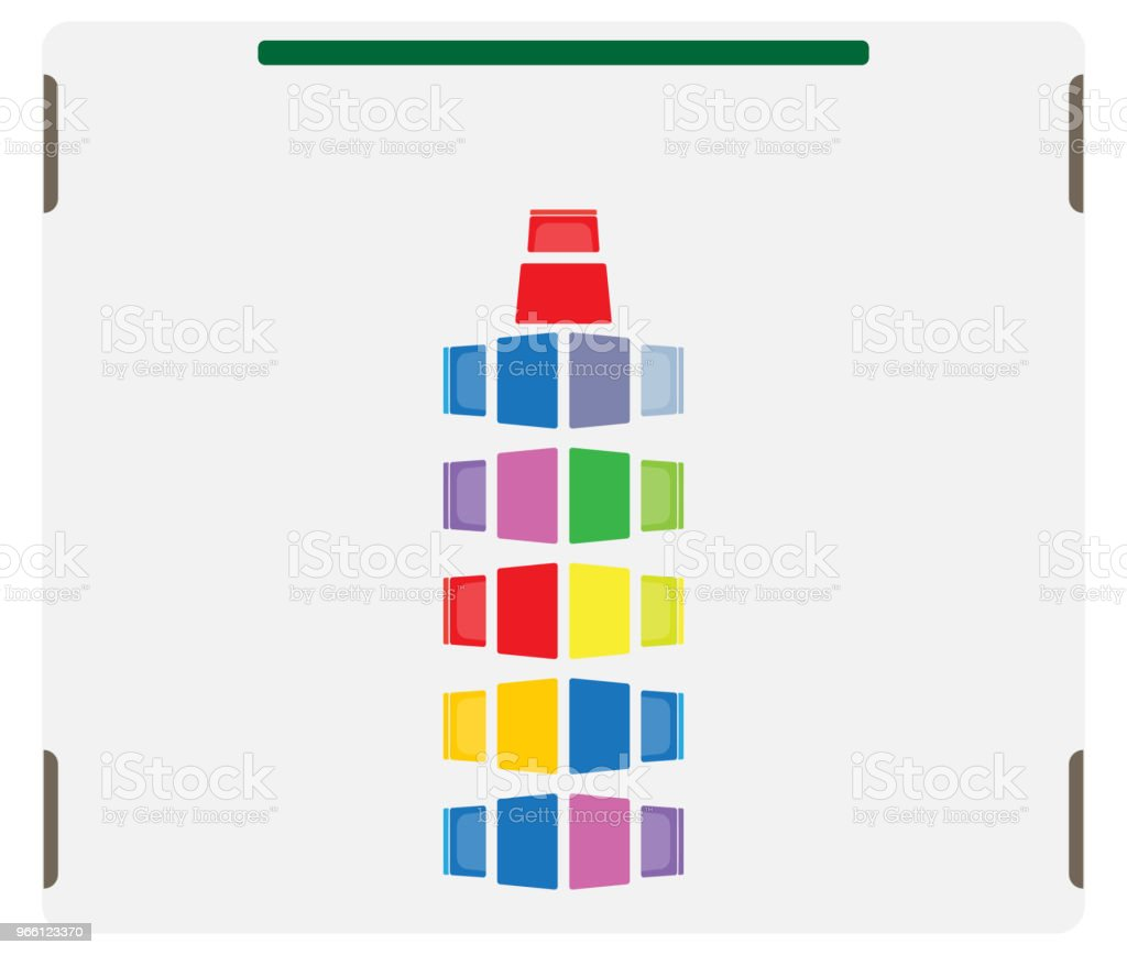 Seat map of Children Classroom show table and chair - Векторная графика Векторная графика роялти-фри