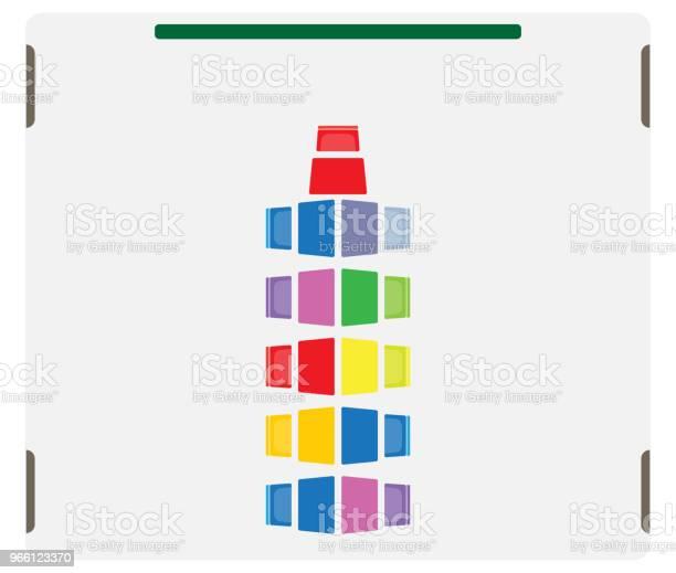 Platsöversikten För Barn Klassrummet Visa Bord Och Stol-vektorgrafik och fler bilder på Bord