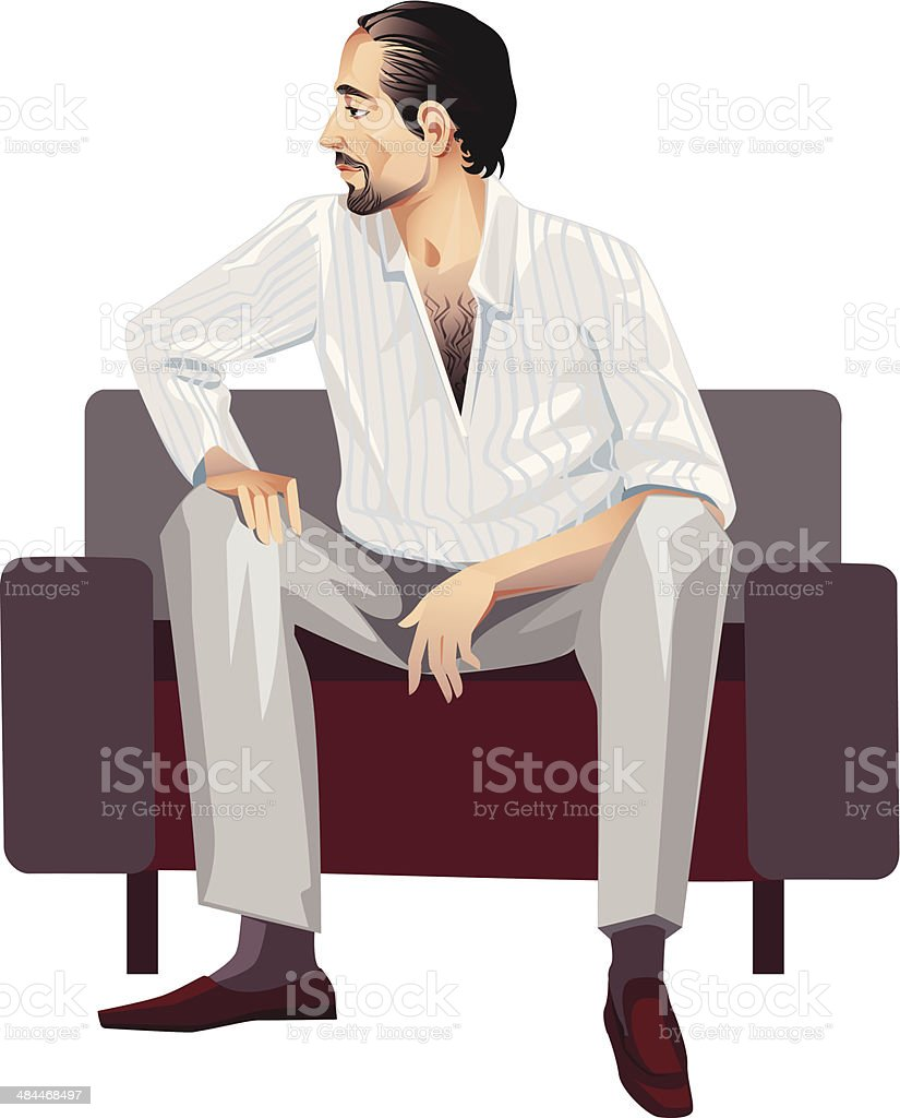seated man royalty-free stock vector art