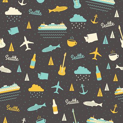 Seattle Seamless Pattern