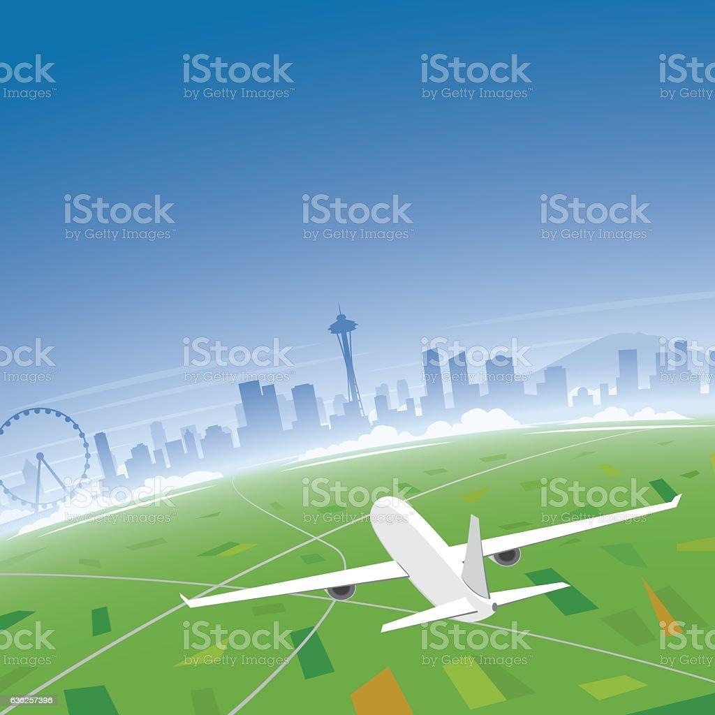 Seattle Skyline Flight Destination