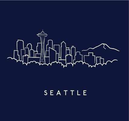 Seattle Skyline Sketch