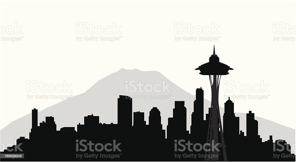 seattle skyline stock vector art  u0026 more images of city