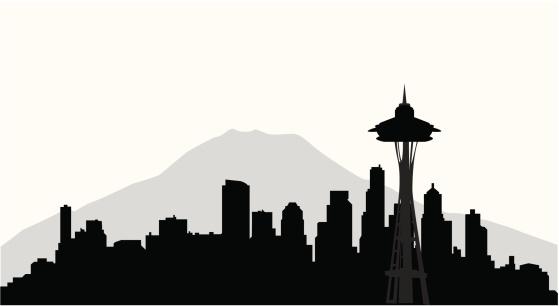 Seattle Skyline ( Vector )