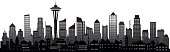 Seattle Skyline (All Buildings are Detailed and Complete)