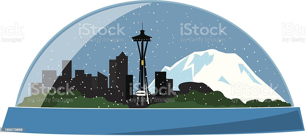 Seattle snowdome royalty-free seattle snowdome stock vector art & more images of blizzard
