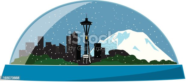 Downtown Seattle skyline with Mt. Rainier in the background. I also have a FLASH animated version of this: