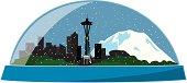 Seattle snowdome
