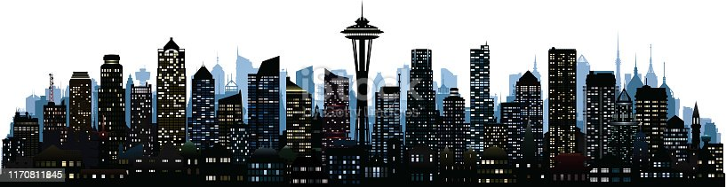 Seattle. All buildings are complete and moveable.