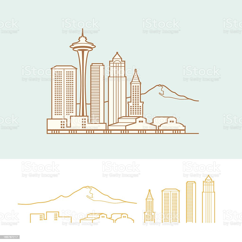Seattle royalty-free stock vector art