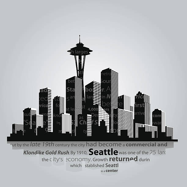 시애틀 - seattle stock illustrations