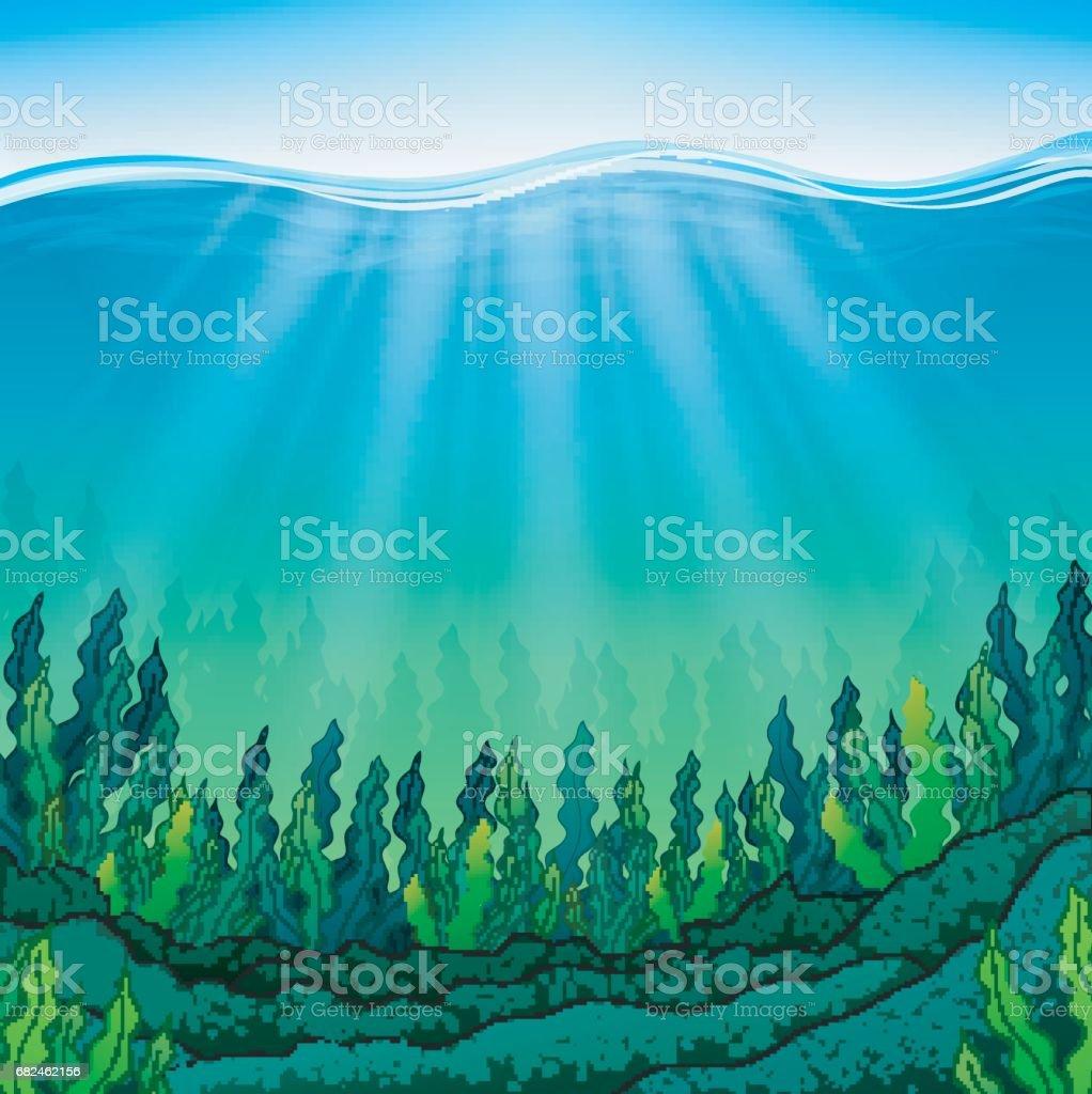 Seaweed on the ocean floor seaweed on the ocean floor — стоковая векторная графика и другие изображения на тему Без людей Стоковая фотография