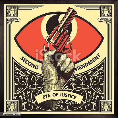 istock Second Amendment Illustration 1218974323