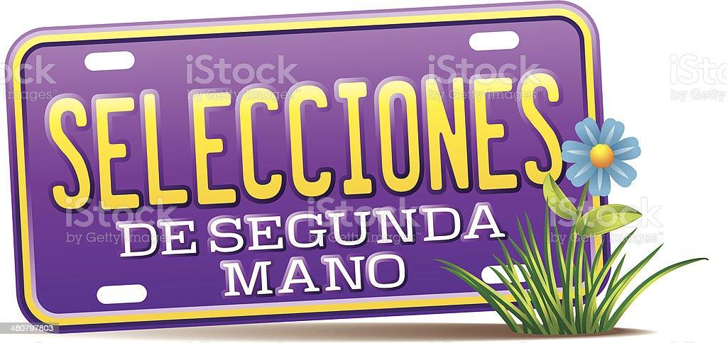 Segunda Mano Heading C vector art illustration