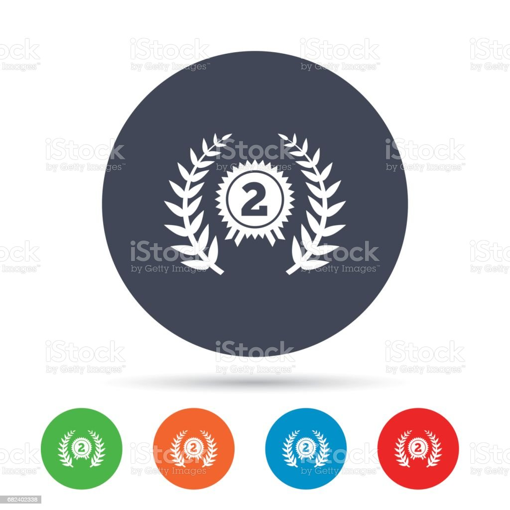 Second place award sign icon. Prize for winner. royalty-free second place award sign icon prize for winner stock vector art & more images of art