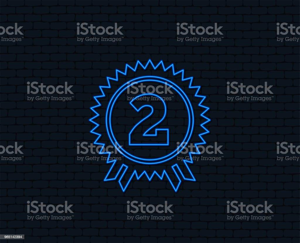 Second place award sign icon. Prize for winner. second place award sign icon prize for winner - stockowe grafiki wektorowe i więcej obrazów aplikacja mobilna royalty-free