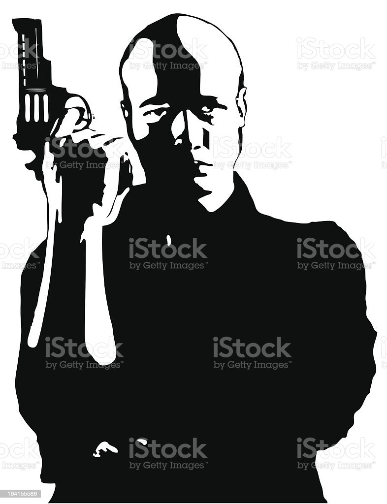 Secret agent royalty-free stock vector art