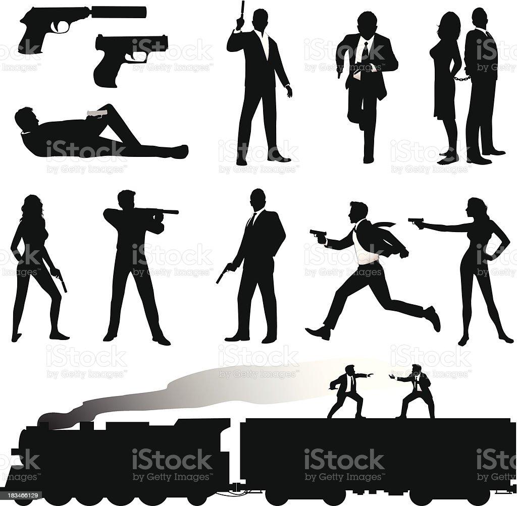 Secret Agent vector art illustration