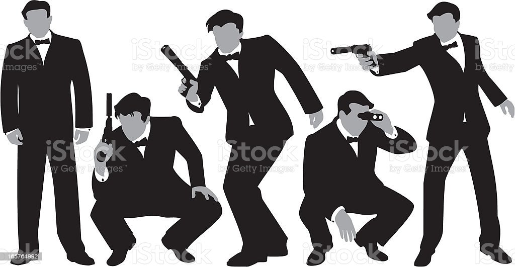 Secret Agents royalty-free stock vector art