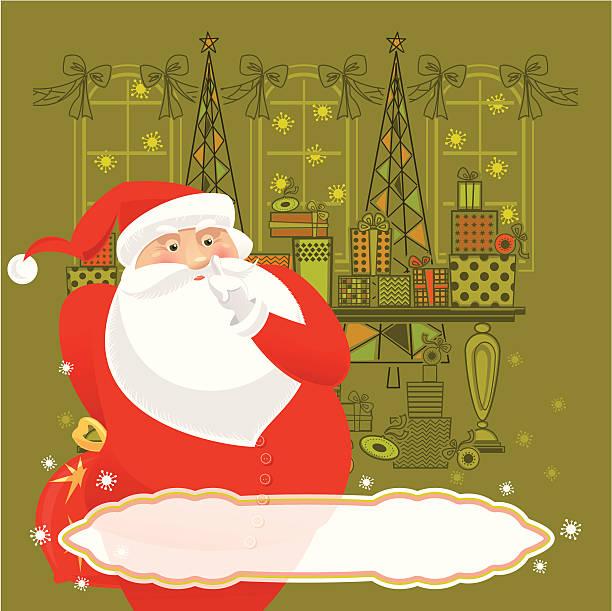 secret santa - secret santa messages stock illustrations