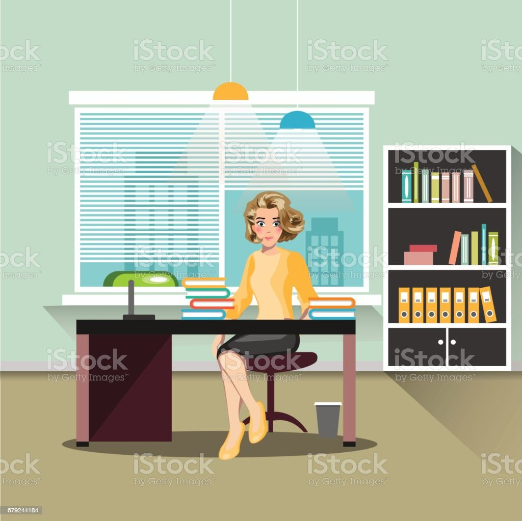 Secretary in office. secretary in office – cliparts vectoriels et plus d'images de adulte libre de droits