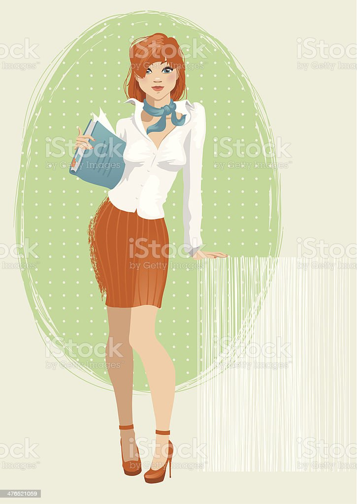 Secretary royalty-free secretary stock vector art & more images of adult