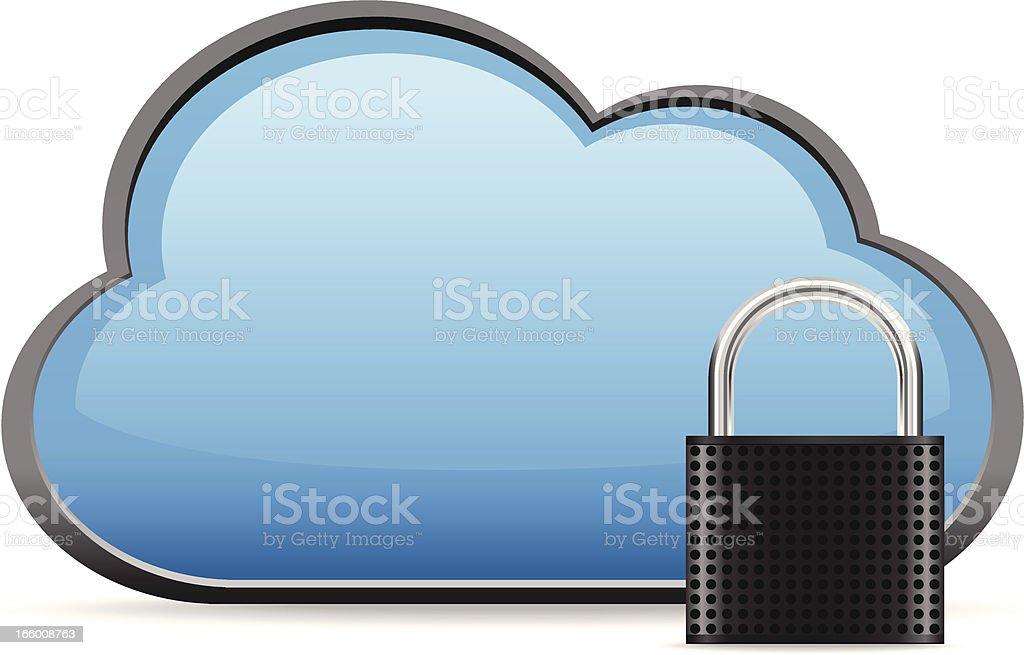 Secure Cloud Computing royalty-free stock vector art