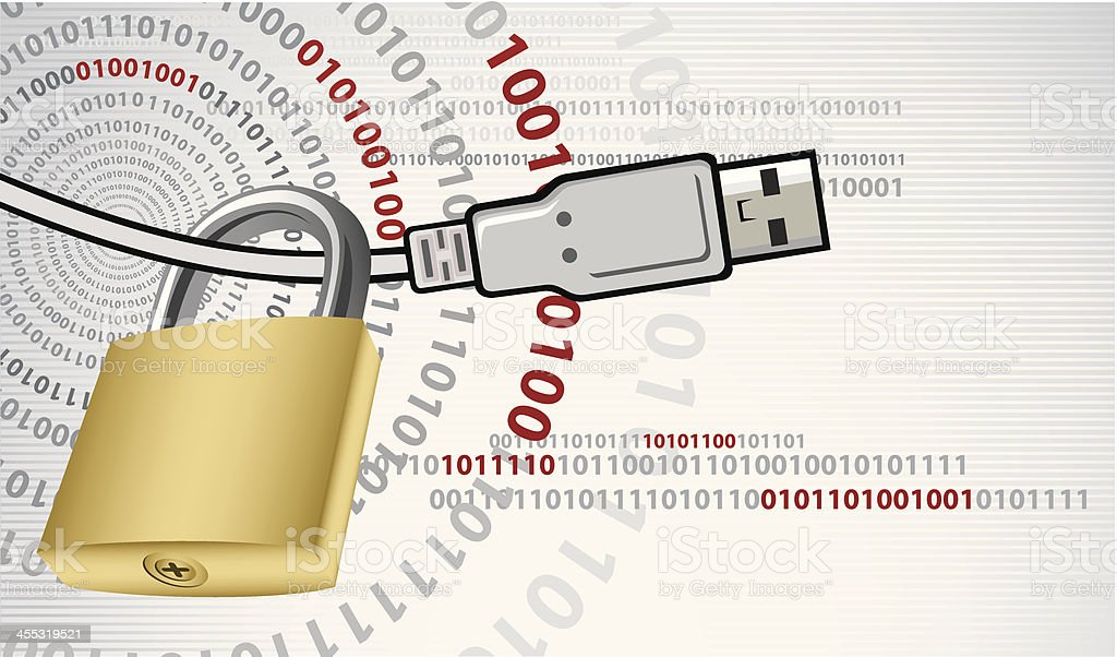 Secure Connection royalty-free stock vector art