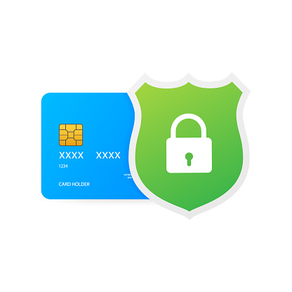 Secure credit card transaction. Payment protection concepts, Secure payment. Vector illustration.