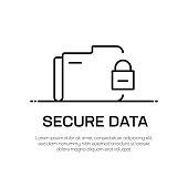 istock Secure Data Vector Line Icon - Simple Thin Line Icon, Premium Quality Design Element 1144491301