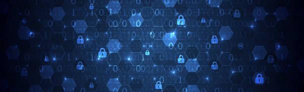 Sicherer digitaler Raum. Virtuell vertraulich, Programmschutz. – Vektorgrafik