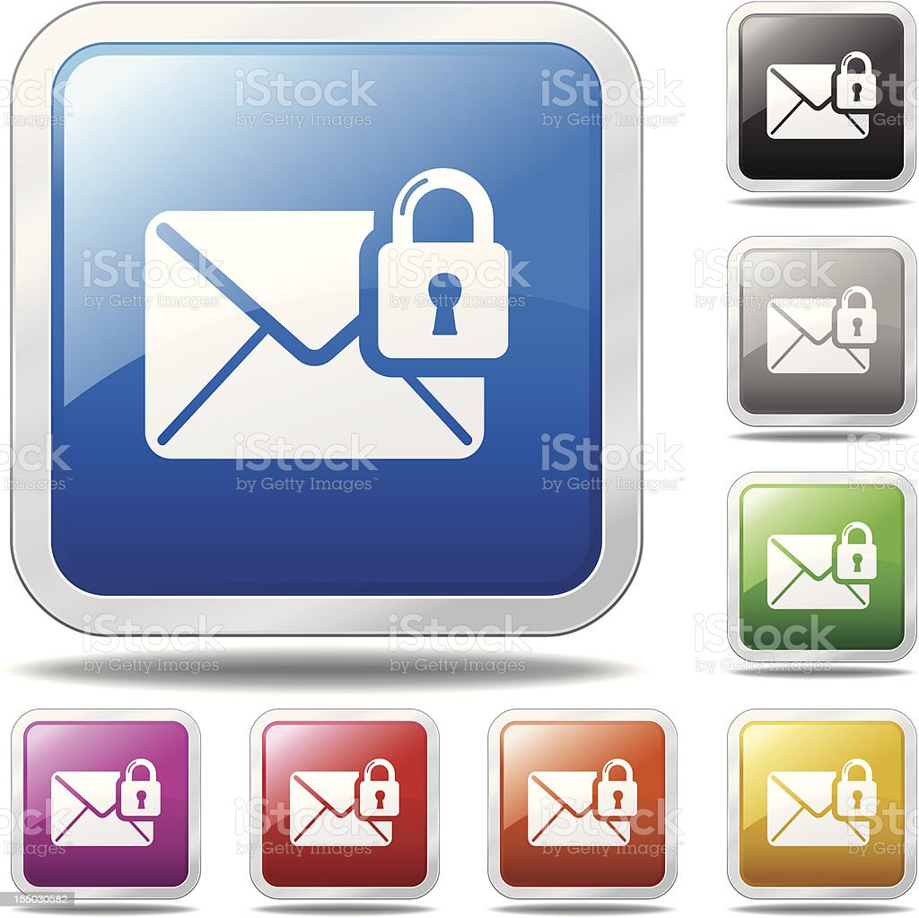 Secure Email Icon royalty-free stock vector art