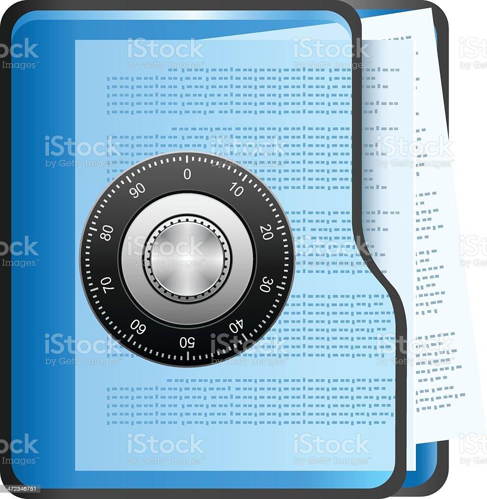 Secure Folder royalty-free secure folder stock vector art & more images of brochure