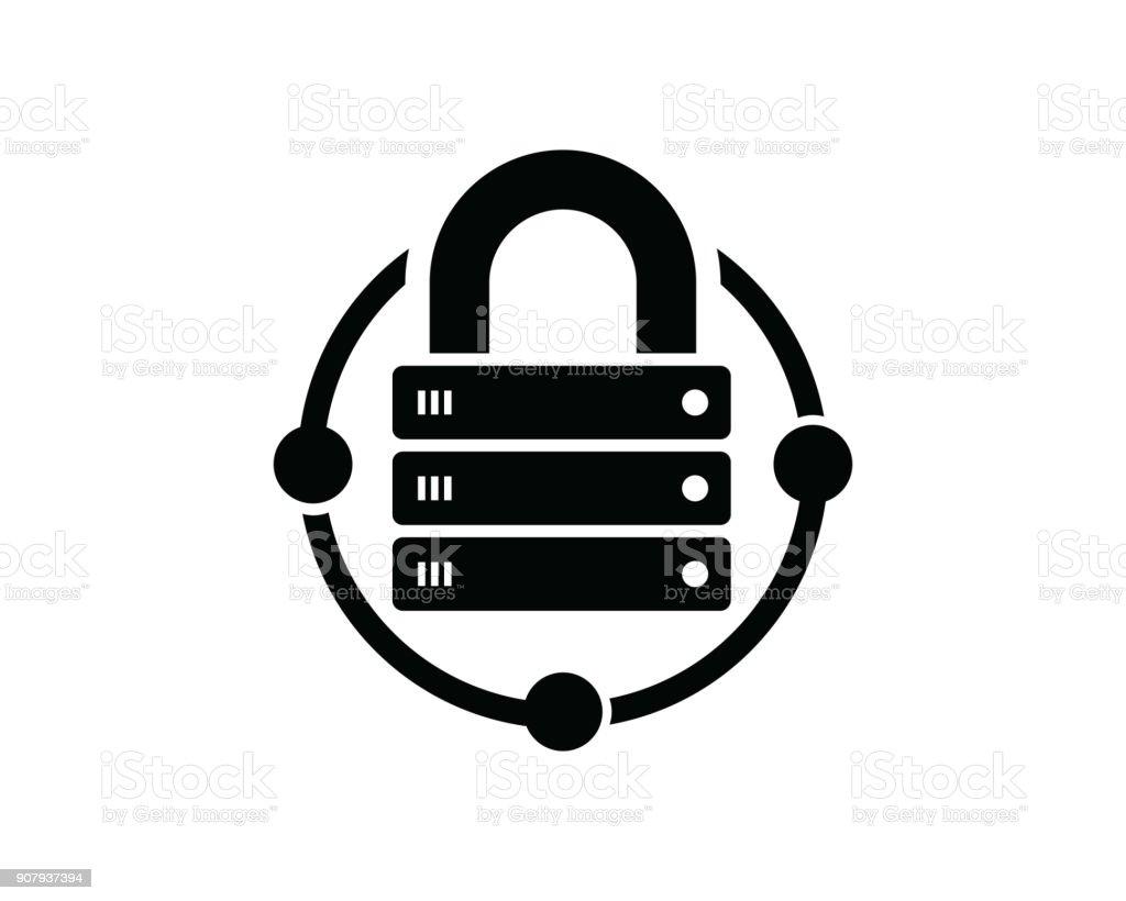 Hostingsymbol Vorlage Vektor Symbol Design Konzept Kreative Symbol ...