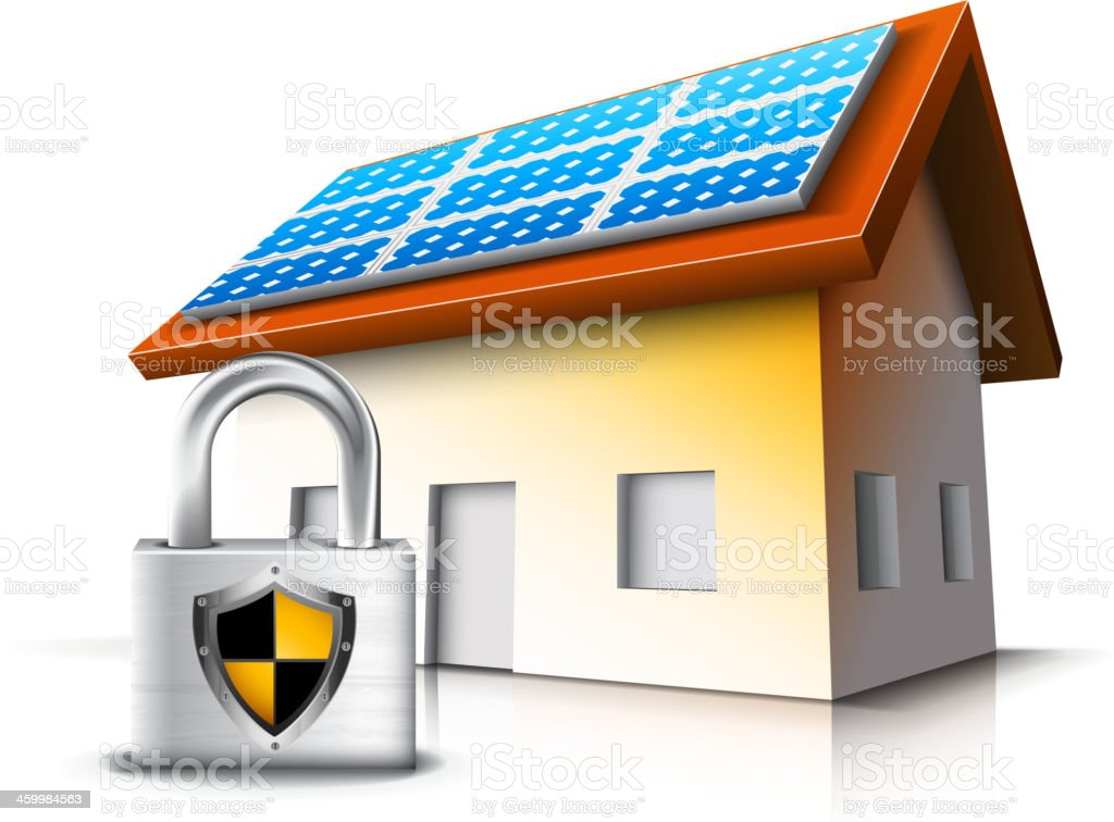 Secure House royalty-free stock vector art