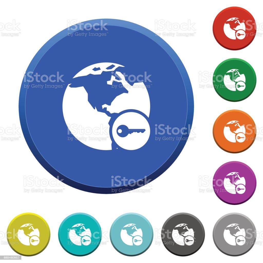 Secure internet surfing beveled buttons secure internet surfing beveled buttons - arte vetorial de stock e mais imagens de amarelo royalty-free