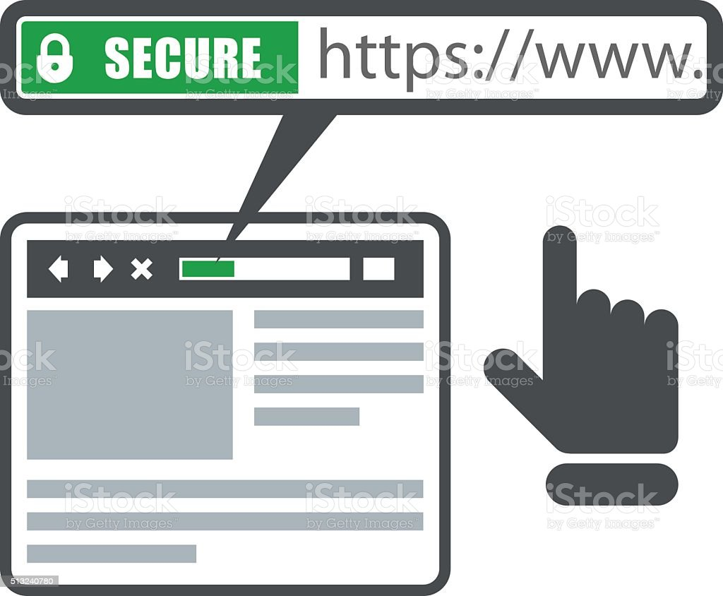 secure online payment icon green bar with ssl stock vector. Black Bedroom Furniture Sets. Home Design Ideas