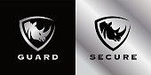 istock Secure shield Rhino icon 1271316157