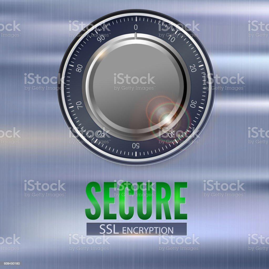 Secure Ssl Connection 3d Illustration With Digital Lock
