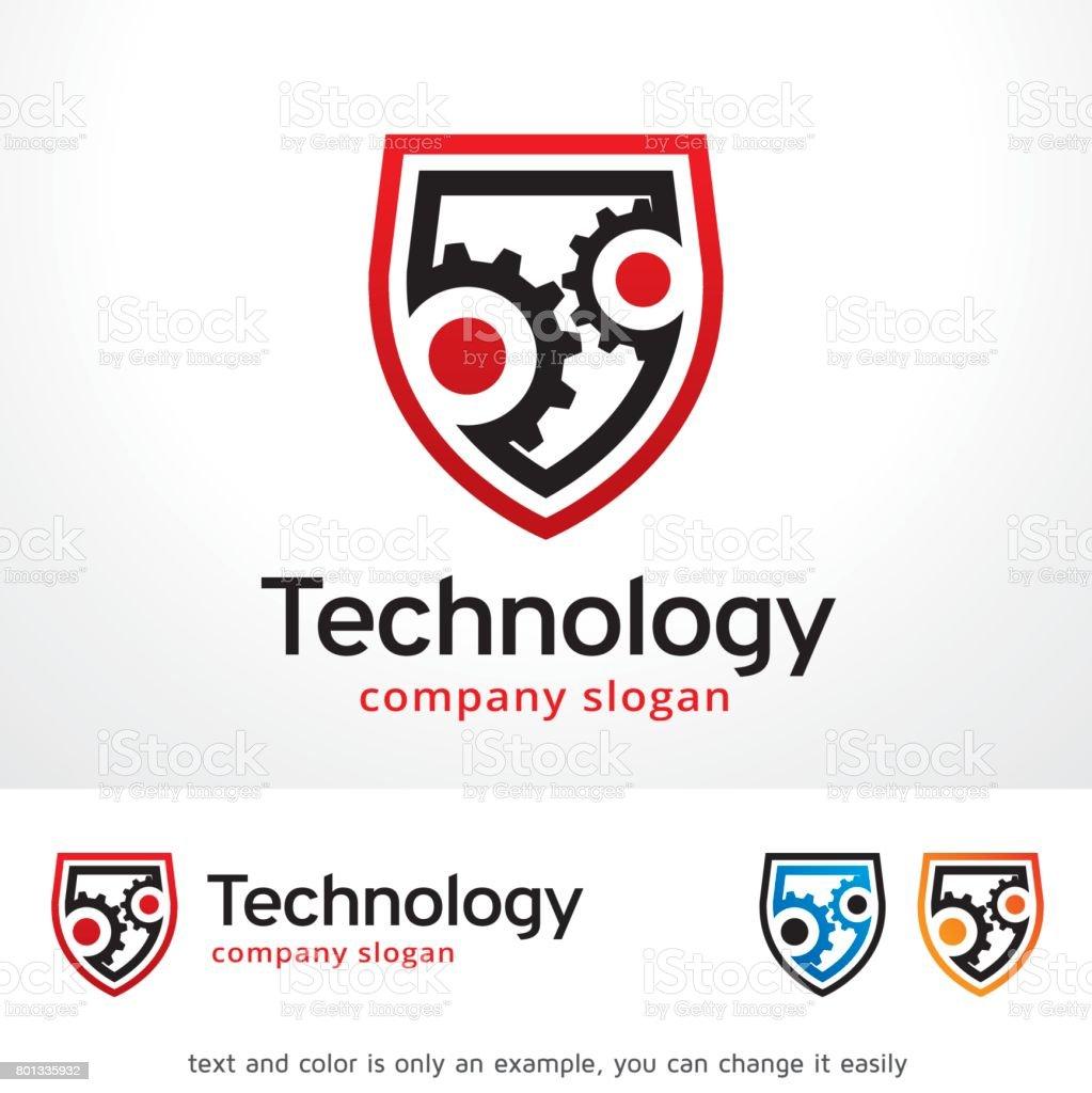 Secure Tech Symbol Template Design Vector, Emblem, Design Concept, Creative Symbol, Icon vector art illustration