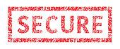 Secure typographic stamp