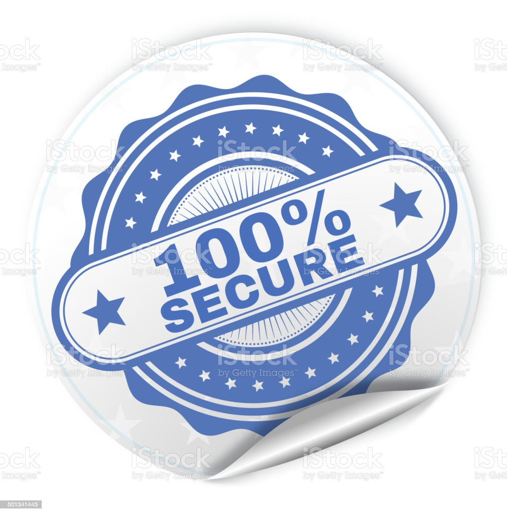 100% Secure royalty-free stock vector art