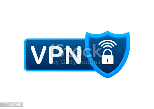 Secure VPN connection concept. Virtual private network connectivity overview. Vector stock illustration